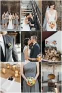 Cool Cotton Mill Wedding with a Modern Rustic Colour Palette