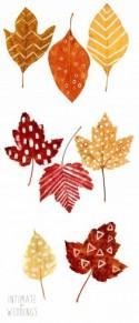 DIY Printable Leaf Place Cards