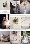 Using lovely linens on your wedding day