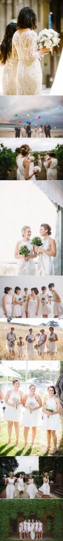 Bridesmaids In White - Polka Dot Bride