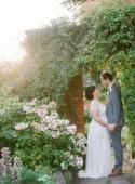 English Country Garden real wedding with Jenny Packham gown