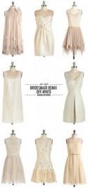 Phi-Style: Bridesmaid Remix - Off-White - Brooklyn Bride - Modern Wedding Blog