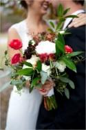 Red and Grey Outdoor Wedding