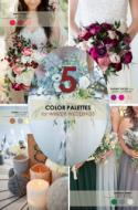 5 Winter Wedding Color Palettes
