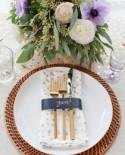 Copper and Navy Holiday Table Inspiration