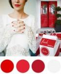 Christmas Colour Palette - White & Poppy Red - Polka Dot Bride