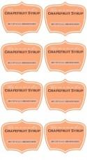 Grapefruit Soda Syrup Favors with Free Printable Labels