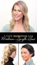 3 Cute Hairstyles for Medium-Length Hair