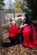 Diana & Dale's horror movies meets zoo wedding