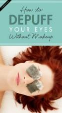 How to Depuff Your Eyes (Without Makeup!)