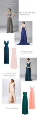 Beautiful Bridesmaids Dresses from For Her and For Him
