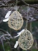 DIY Wedding Decorations: Hanging Spheres