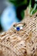 Delightful Blue 1920s Gatsby Feel Floral Wedding