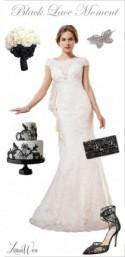 Wedding Day Look: Black Lace Moment - Belle The Magazine