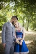 Personalised Wedding with the Bride in Blue