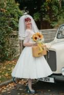 Sunflower & Flamingo Themed Retro Wedding