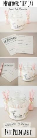 DIY Newlywed 'TIP' Jar Printable {Guest Book Alternative}