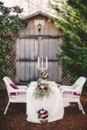Marsala & Gold Romance: Winter Wedding