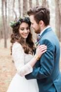 Purple and Ivory Wedding in the Woods