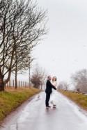 Peach & Navy DIY Foggy Winter Wedding - Whimsical Wonderland Weddings