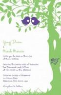Love Bird Wedding Invitations -  Purple and Green Tree Wedding Invitation - Love birds in a tree - RUSH Custom Listing for yingyduan