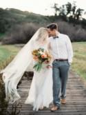 Organic Peach and Gold Anniversary Session - Wedding Sparrow