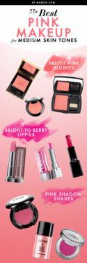 The Best Pink Makeup for Medium Skin Tones