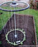 How to Make Recycled Tire Garden Trellis - DIY & Crafts - Handimania