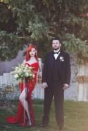 This Jessica Rabbit bridal look made our jaws drop