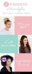 3 Wedding Hairstyles for Curly Haired Girls