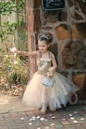 Rustic Burlap Vintage Inspired Ivory And Beige Lace Pearl Flower Girl Tutu Dress Infant To Girls