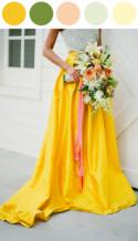 Color Me Inspired: Yellow and Green Wedding Look!