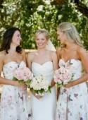 Get the Look: Floral Print Bridesmaid Dresses