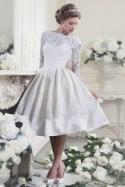 Tea Length Wedding Dresses with Classic Style