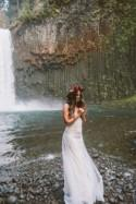 Romantic Waterfall Bridal Session with Beautiful Blooms