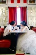 Retro and Superhero Themed Wedding at a Movie Theatre
