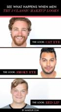See What Happens When Men Try 3 Classic Makeup Looks