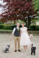 Quirky Tweed & Pet Dogs Vintage Village Fete Home Made Wedding -...