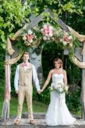 Peach Wedding at Alerin Barn