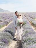 Bridal Portraits in a Lavender Field
