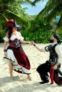 Sword fights and hot booty: Don't miss Ashley & Erik's Caribbean pirate wedding
