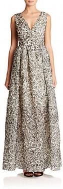 Tory Burch Printed Silk Gown