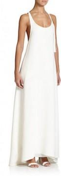 Adam Lippes Crepe Racerback Gown