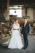 Industrial Wedding at a Metalworking Studio