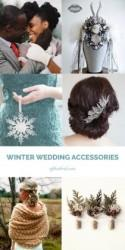 Crystal snowflakes, snow queen crowns, and rustic pinecones: Our HUGE haul of winter wedding accessories