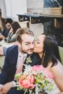 Major shenanigans and a chic dress at this New York Chinatown wedding