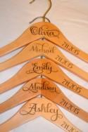 5 Personalized Bridesmaid Hanger - Wooden Engraved Hanger - Bridal Dress Hanger