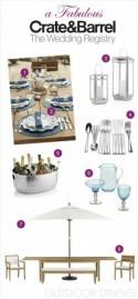 A Fabulous Wedding Registry with Crate and Barrel: Outdoor Dining - Belle The Magazine
