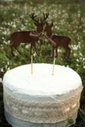 Deer on sticks-wedding cake topper-deer-wedding-buck and doe-woodland wedding-rustic-wedding cake topper-groom's cake topper-hunter-groom