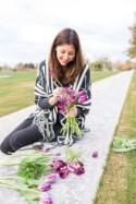 Monochromatic Purple Floral Arrangements